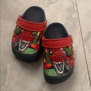 Dinosaur light up crocs